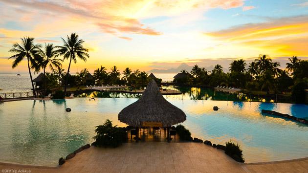 Des hôtels tout confort face aux plus beaux lagons de Polynésie