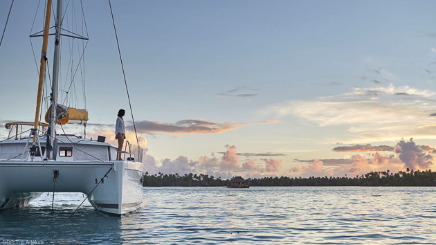 Des vacances paradisiaques en bateau sur les atolls de Polynésie