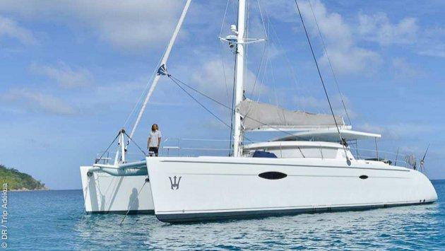 Votre croisière à la voile sur un catamaran de luxe aux Seychelles